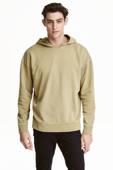 Hooded top - Light khaki green - Men | H&M CN