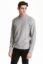 Jumper in a textured knit - Grey - Men | H&M CN 1