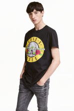 T-shirt with a print motif - Black/Guns N' Roses - Men | H&M CN 1