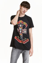 T-shirt with a print motif - Black/Guns N' Roses - Men | H&M IE 1