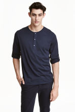 Henley shirt - Dark blue - Men | H&M CN 1