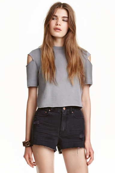 Top corto in jersey - Grigio - DONNA | H&M IT 1