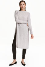 Long cashmere jumper - Light grey marl - Ladies | H&M GB 1