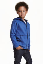 Hooded jacket - Blue marl - Kids | H&M CN 1