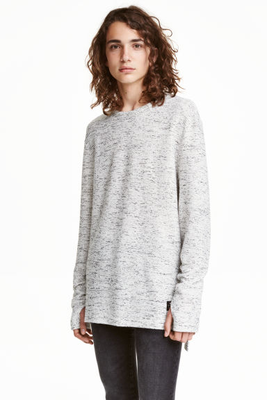 Marled jumper - Natural white - Men | H&M CN 1