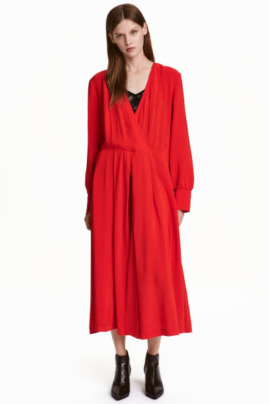 Calf-length dress - Red - Ladies | H&M GB