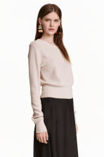 Knitted jumper - Light beige - Ladies | H&M CN 1