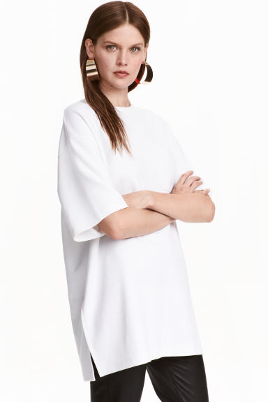 T-shirt oversize - Bianco - DONNA | H&M IT 1