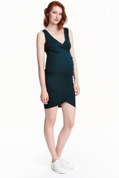 MAMA Wrap dress - Petrol - Ladies | H&M CN 1