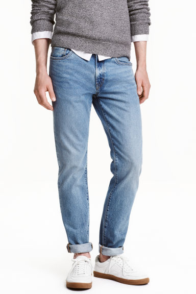 Skinny Regular Jeans - Azul denim claro -  | H&M ES