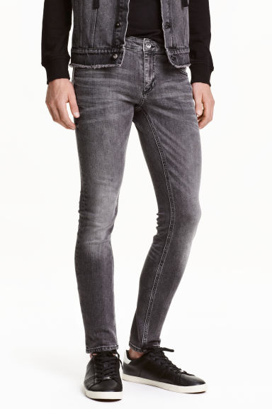 Super Skinny Low Jeans - Grey washed out - Men | H&M CN 1