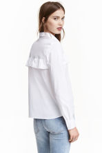 Frilled blouse - White - Ladies | H&M CN 1
