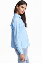 Frilled blouse - Light blue - Ladies | H&M CN 1