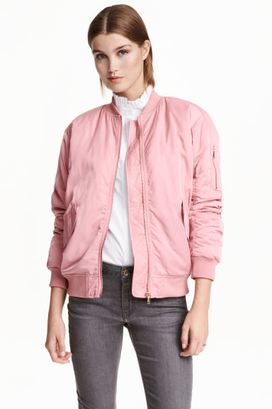 Bomber jacket - Pink -  | H&M GB 1