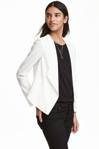 Draped jacket - White - Ladies | H&M CN 1
