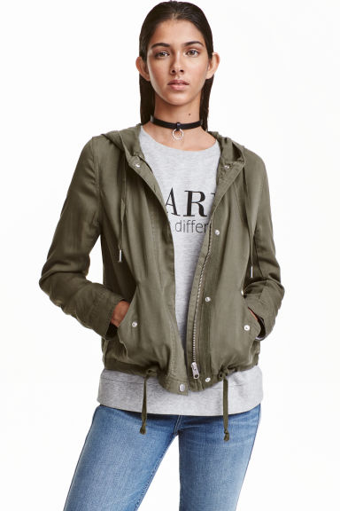 Lyocell parka - Khaki green - Ladies | H&M CN 1