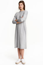 Fine-knit dress - Grey marl - Ladies | H&M CN 1