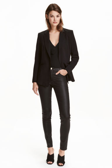 Superstretch trousers - Black/Coated -  | H&M 1