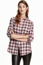 法蘭絨襯衫 - Light pink/Checked - Ladies | H&M 1