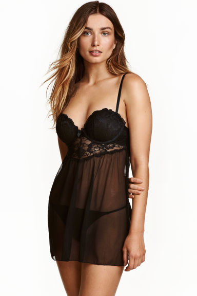 Super push-up negligé - Black - Ladies | H&M CN 1