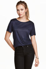 Jersey top - Dark blue - Ladies | H&M CN 1