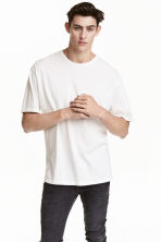 Wide T-shirt - White - Men | H&M CN 1