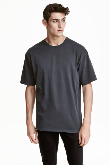 Wide T-shirt - Dark grey - Men | H&M CN 1