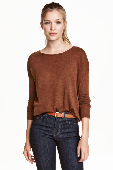 Fine-knit jumper - Rust -  | H&M CN 1