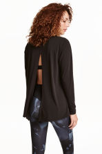Yoga top - Black - Ladies | H&M CN 1