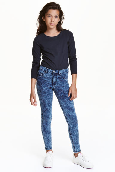Stretch trousers - Denim blue - Kids | H&M CN 1