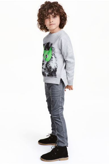 Corduroy trousers - Dark grey - Kids | H&M CN 1