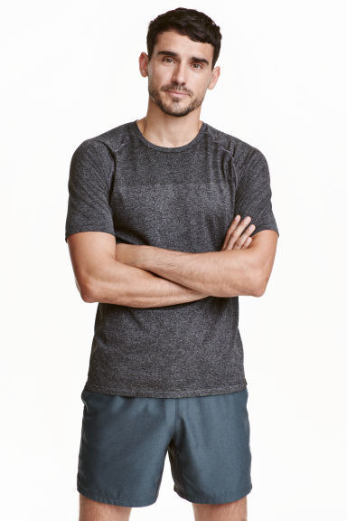 Running shorts - Dark grey marl - Men | H&M CN 1