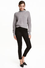 Imitation suede trousers - Black - Ladies | H&M CN 1