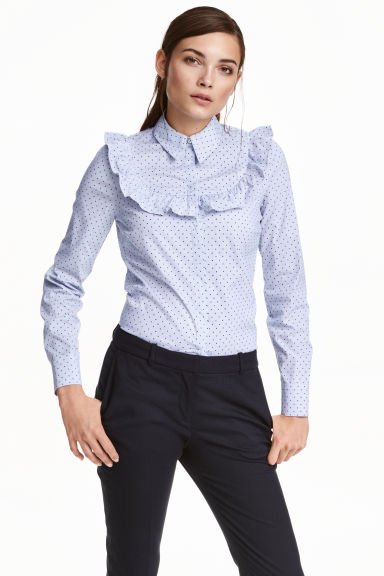 Blouse with a frill Model