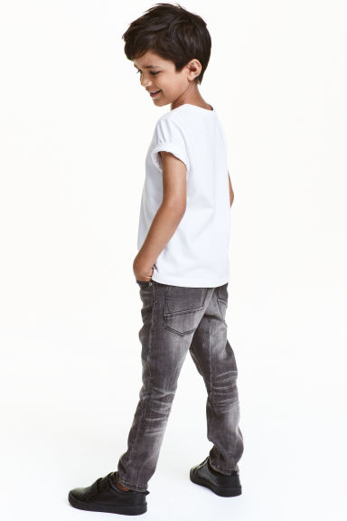 Tapered Jeans - 水洗深灰色 - Kids | H&M CN 1