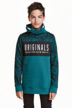 Funnel-collar sweatshirt - Petrol - Kids | H&M CN 1