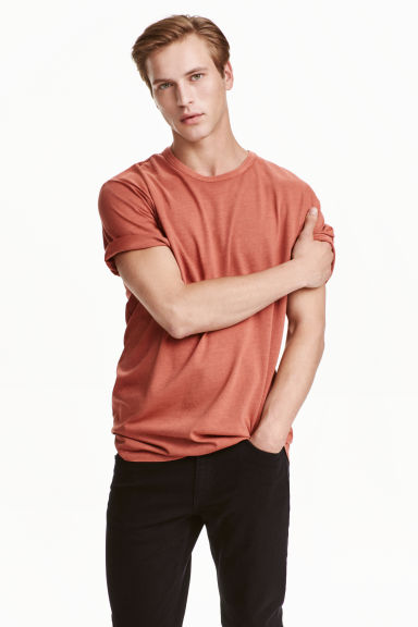 Wide T-shirt - Rust - Men | H&M CN 1