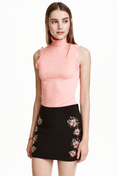 Polo-neck top - Apricot - Ladies | H&M CN