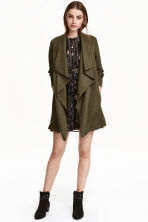 Draped coat - Khaki green -  | H&M CN 1