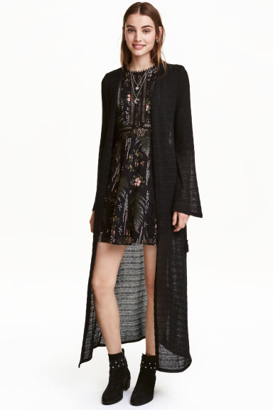 Long lace cardigan - Black - Ladies | H&M CA