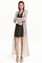 Long lace cardigan - Light beige - Ladies | H&M CN 1