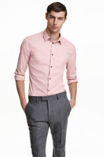 Stretch shirt Slim fit - Light pink - Men | H&M CN 1