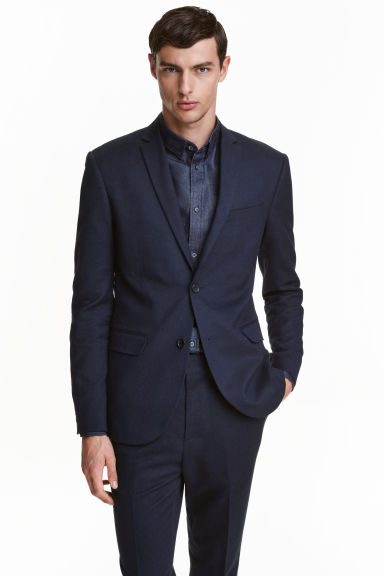 Giacca Slim fit - Blu scuro - UOMO | H&M IT 1