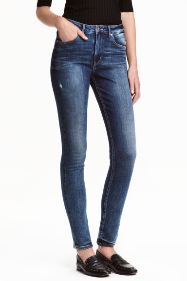 Skinny High Jeans - Blu denim scuro - DONNA | H&M IT 1