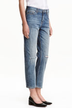 Straight Ankle Jeans - Bleu denim clair - FEMME | H&M BE 1