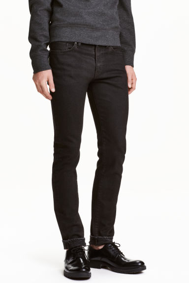 Skinny Low Jeans - Black washed out - Men | H&M CN 1