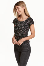 MAMA Nursing top - Black/Floral - Ladies | H&M CN 1