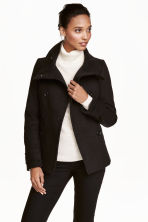 Double-breasted jacket - Black - Ladies | H&M GB 1