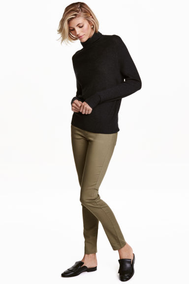 Superstretch trousers - Light khaki - Ladies | H&M CA 1