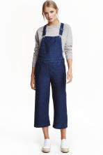 Denim dungarees - Dark denim blue - Ladies | H&M CN 1